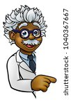 a cartoon scientist professor... | Shutterstock .eps vector #1040367667