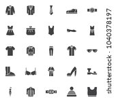 clothing vector icons set ...   Shutterstock .eps vector #1040378197
