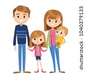 vector family portrait | Shutterstock .eps vector #1040379133