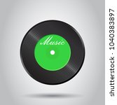 vinyl disk. music disk vector... | Shutterstock .eps vector #1040383897