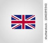 british flag design with... | Shutterstock .eps vector #1040395543