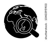 search globe vector symbol | Shutterstock .eps vector #1040395903