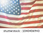 Usa Flag. American Flag Blowin...