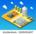 agricultural isometric design... | Shutterstock .eps vector #1040426347
