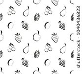 seamless black and white berry... | Shutterstock .eps vector #1040436823