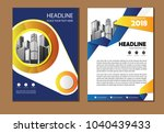 design cover book poster a4... | Shutterstock .eps vector #1040439433