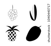 icon fruits and vegetables with ... | Shutterstock .eps vector #1040440717