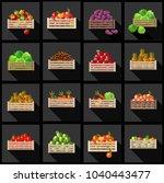 vegetables and fruits set.... | Shutterstock .eps vector #1040443477