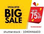 sale banner. big sale banner... | Shutterstock .eps vector #1040446603
