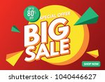 sale banner. big sale banner... | Shutterstock .eps vector #1040446627