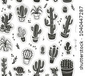 seamless pattern with hand... | Shutterstock . vector #1040447287