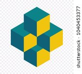 impossible shape  grey rhombus  ... | Shutterstock .eps vector #1040453377