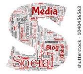 conceptual social media... | Shutterstock . vector #1040456563