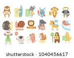 colorful set of different...   Shutterstock .eps vector #1040456617