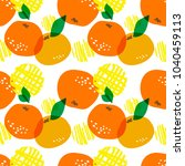 seamless  vector pattern with... | Shutterstock .eps vector #1040459113