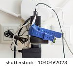 power leads and chargers with... | Shutterstock . vector #1040462023