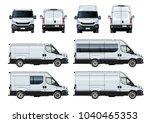 vector vans set template... | Shutterstock .eps vector #1040465353