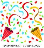 celebration cracker bonbon   Shutterstock .eps vector #1040466937