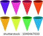 colorful cracker bonbon set   Shutterstock .eps vector #1040467033