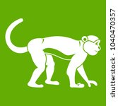macaque icon white isolated on... | Shutterstock . vector #1040470357