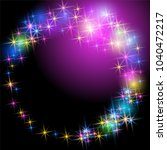 glowing multicolor salute and... | Shutterstock .eps vector #1040472217