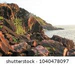landscape sunset sea waves   Shutterstock . vector #1040478097