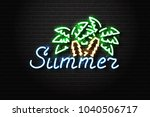 vector realistic isolated neon... | Shutterstock .eps vector #1040506717