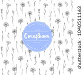 vector hand drawn floral... | Shutterstock .eps vector #1040511163