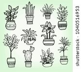 set of different hand drawn... | Shutterstock .eps vector #1040516953