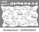 count how many transports and... | Shutterstock .eps vector #1040530633