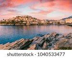 fantastic spring seascape of...   Shutterstock . vector #1040533477