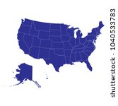 map of usa. white background... | Shutterstock .eps vector #1040533783