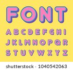 colorful bold trendy alphabet ... | Shutterstock .eps vector #1040542063