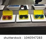 Small photo of NEW YORK CITY: March 2, 2018: Snapchat's Snap Inc. spectacles are on sale at Macy's in Manhattan. Technology, cool, trendy. Company has been criticized as many consider camera glasses a failure.