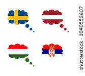 icon flag with hungary  serbia  ...   Shutterstock .eps vector #1040553607
