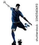 one caucasian soccer player man ...   Shutterstock . vector #1040560693