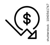 dollar down trend | Shutterstock .eps vector #1040561767