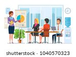 business lessons  trainings ... | Shutterstock .eps vector #1040570323