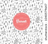 vector hand drawn floral... | Shutterstock .eps vector #1040579647