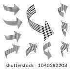 set of vector arrow icons....   Shutterstock .eps vector #1040582203
