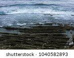 cliffs on a seashore | Shutterstock . vector #1040582893