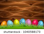 vector realistic decorated...   Shutterstock .eps vector #1040588173