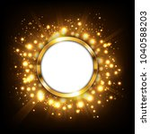 round gold sign with text space ... | Shutterstock .eps vector #1040588203