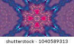 abstract magic glowing swirl... | Shutterstock . vector #1040589313