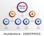 business hierarchy organogram... | Shutterstock .eps vector #1040599423