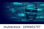 hacker artificial intelligence... | Shutterstock .eps vector #1040601757