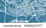 detailed vector map of... | Shutterstock .eps vector #1040621077