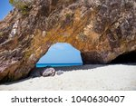 summer beach with clearly sea... | Shutterstock . vector #1040630407