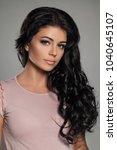 brunette beauty. beautiful...   Shutterstock . vector #1040645107