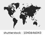 political world map | Shutterstock .eps vector #1040646043